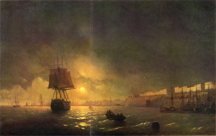 Ivan Aivazovsky Reproductions-View of Odessa, 1846