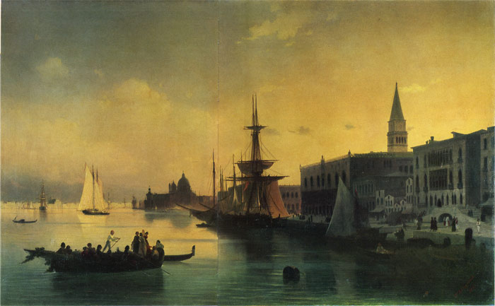 Paintings Reproductions Aivazovsky,  Ivan Constantinovich Venice, 1842