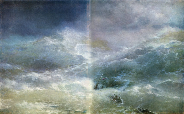 Paintings Reproductions Aivazovsky,  Ivan Constantinovich The Wave, 1889