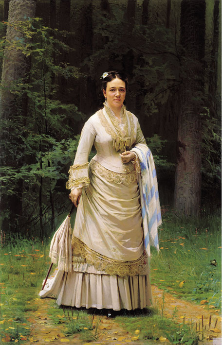 Paintings Reproductions Kramskoy, Ivan Nikolaevich Portrait of Vera Nikolaevna Tretyakova. 1876
