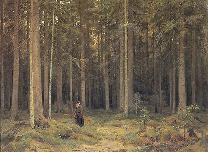 Ivan Shishkin Reproductions-The Forest of Countess Mordvinova, 1891