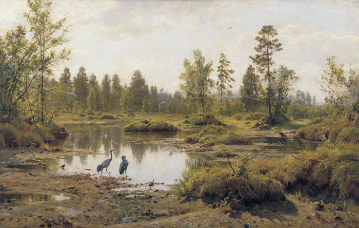 Ivan Shishkin Reproductions-Swamp. 1890