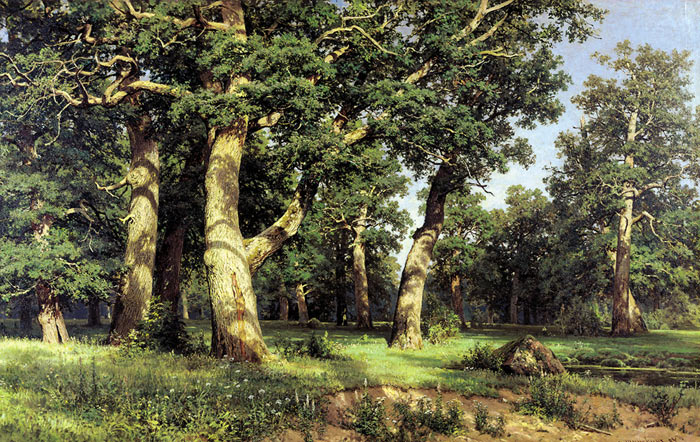 Ivan Shishkin Reproductions-Oak Grove. 1887