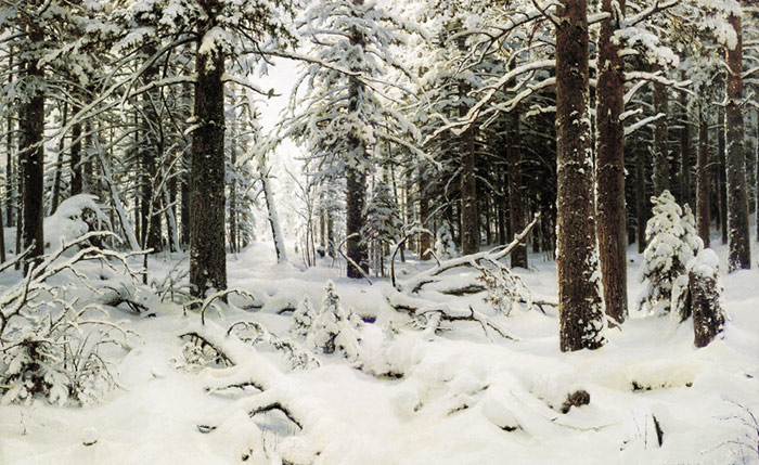 Ivan Shishkin Reproductions-Winter. 1890