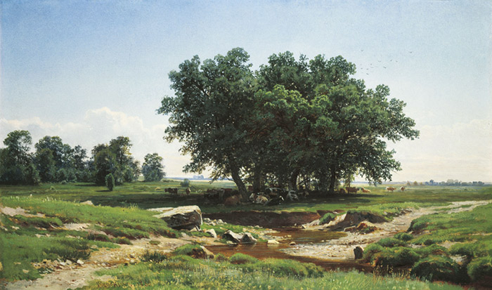 Ivan Shishkin Reproductions-Oaks. 1886