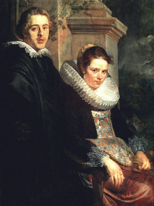 Paintings Reproductions Jordaens, Jacob Portrait of a Young Married Couple, 1615-1620