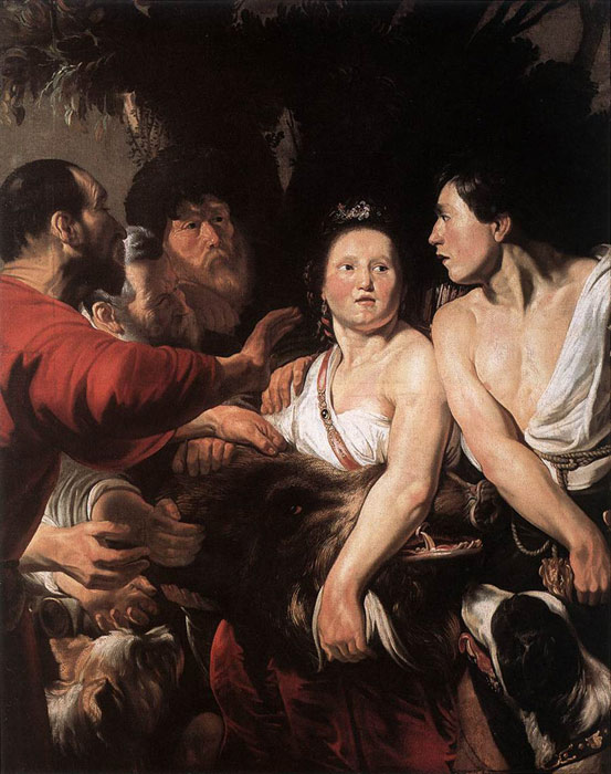 Paintings Reproductions Jordaens, Jacob Meleager and Atalanta, 1618