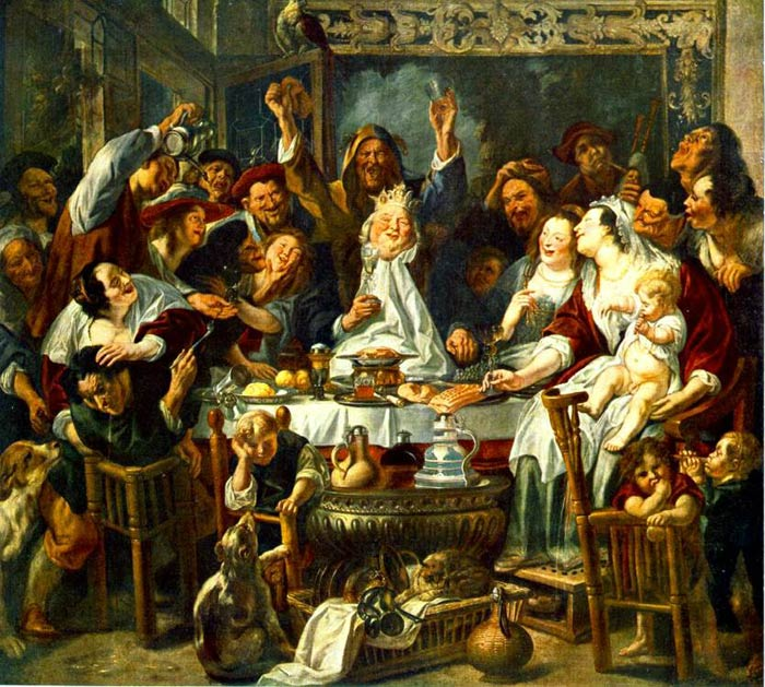 The King Drinks, 1638 Jordaens, Jacob Painting Reproductions