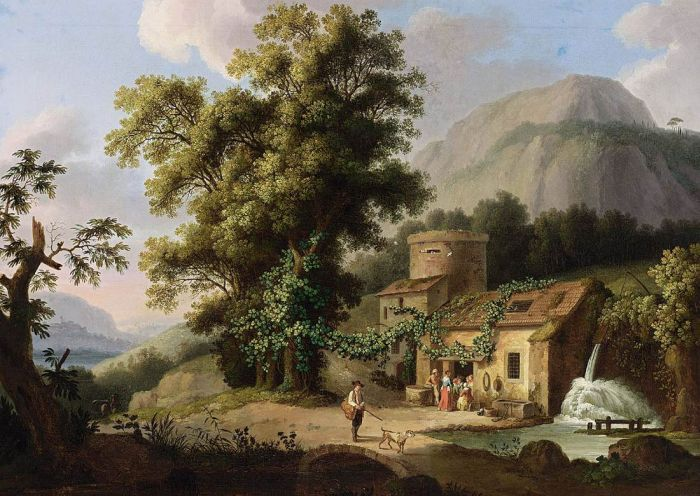 Jacob Philipp Hackert Reproductions-View of the Copper-Mill in Vietri, 1773