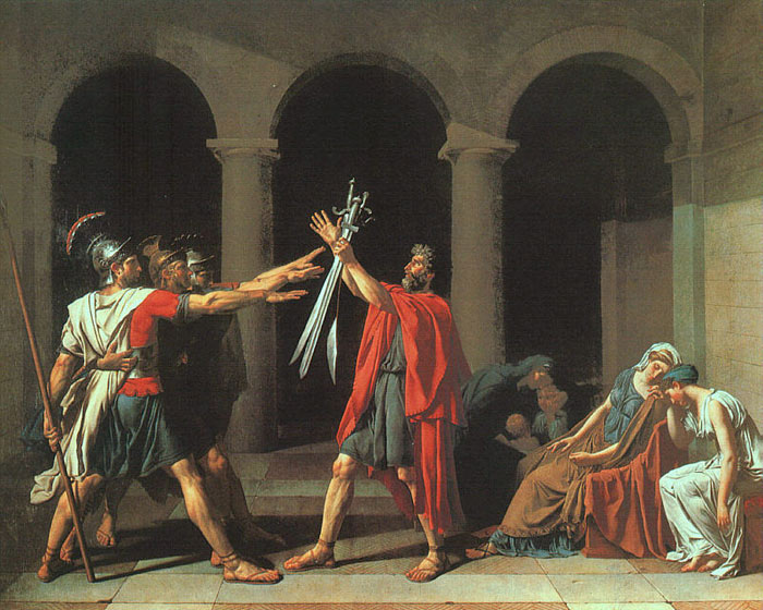 Jacques -Louis David Reproductions-The Oath of the Horatii, 1784