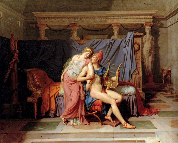 Jacques -Louis David Reproductions-The Courtship of Paris and Helen, 1788