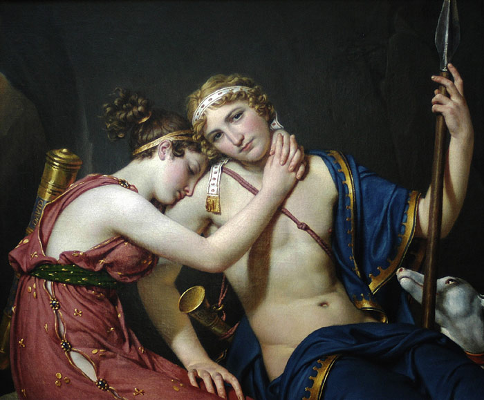 Jacques -Louis David Reproductions-The Farewell of Telemachus and Eucharis