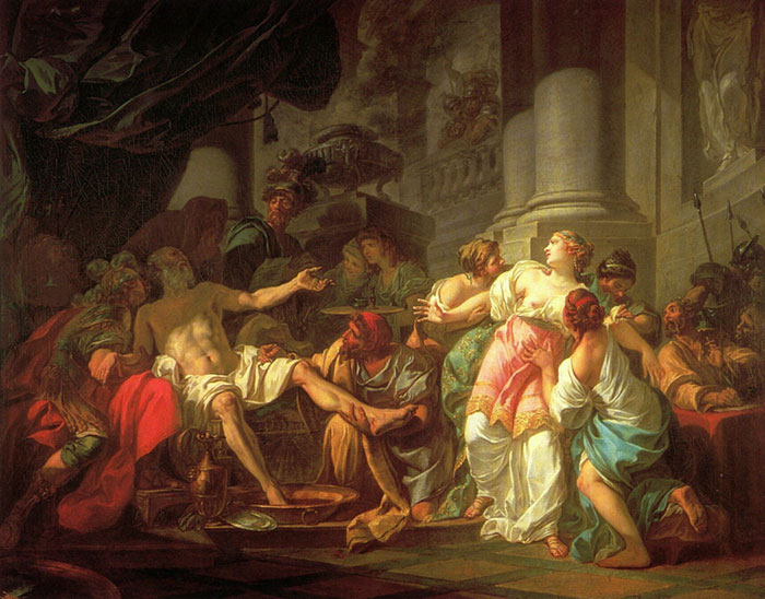 Jacques -Louis David Reproductions-The Death of Seneca