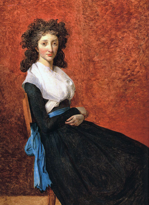 Jacques -Louis David Reproductions-Portrait of Louise Trudaine