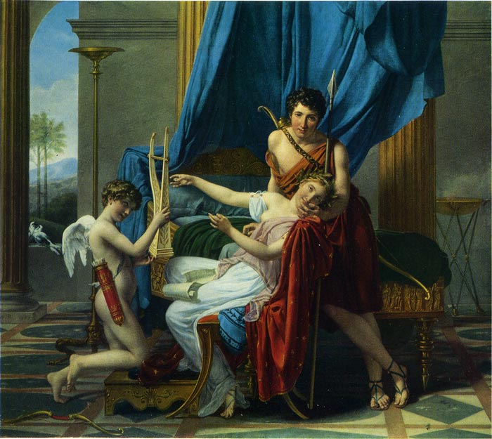 Jacques -Louis David Reproductions-Sappho and Phaon, 1809