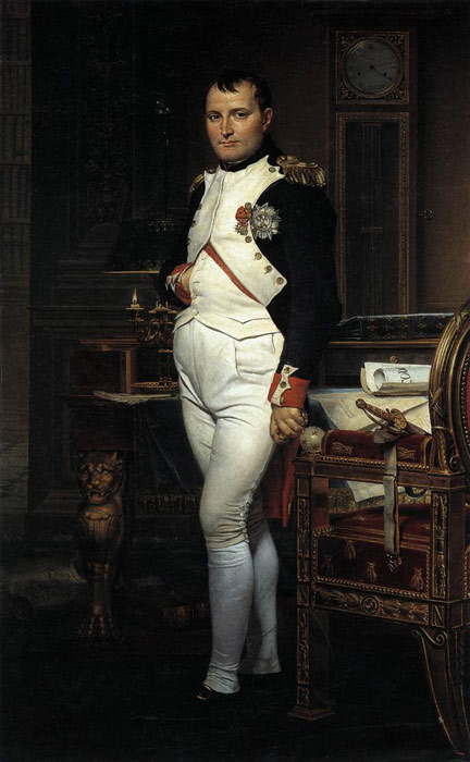 Jacques -Louis David Reproductions-Napoleon in his Study, 1812