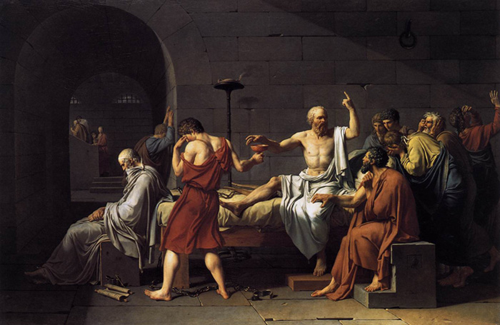 Jacques -Louis David Reproductions-The Death of Socrates, 1787