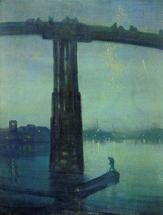 Paintings Reproductions Whistler, James Abbott McNeill Nocturne in blue and green