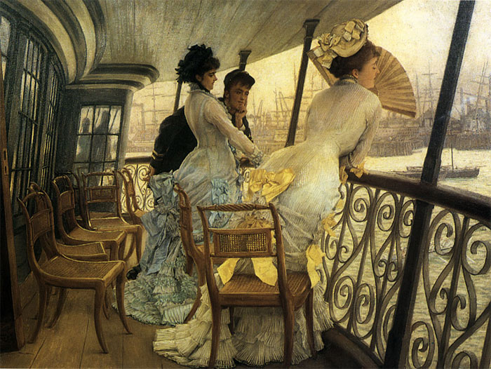 James Jacques Joseph Tissot Reproductions-The Gallery of H.M.S. 'Calcutta' (Portsmouth)