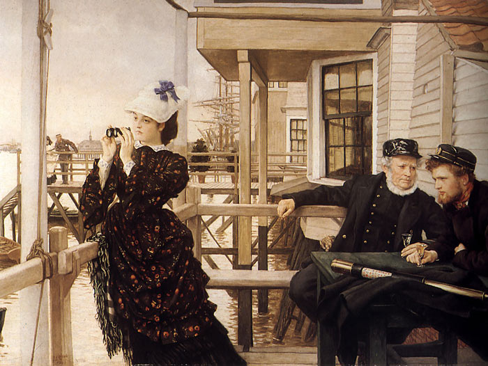 James Jacques Joseph Tissot Reproductions-The Captain's Daughter, 1873