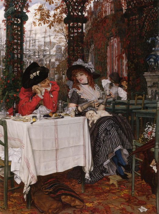James Jacques Joseph Tissot Reproductions-Un Dejeunerc, 1868