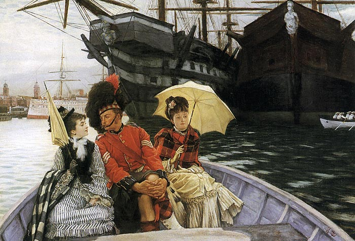 James Jacques Joseph Tissot Reproductions-Portsmouth Dockyard, 1877