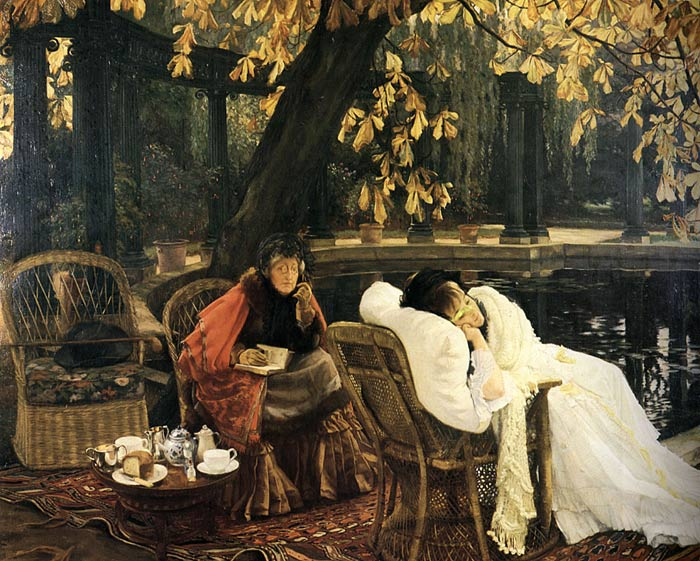 James Jacques Joseph Tissot Reproductions-A Convalescent , c.1876