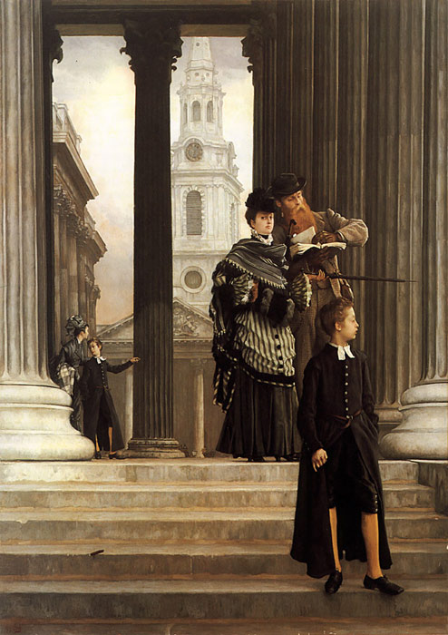 James Jacques Joseph Tissot Reproductions-London Visitors, c.1874