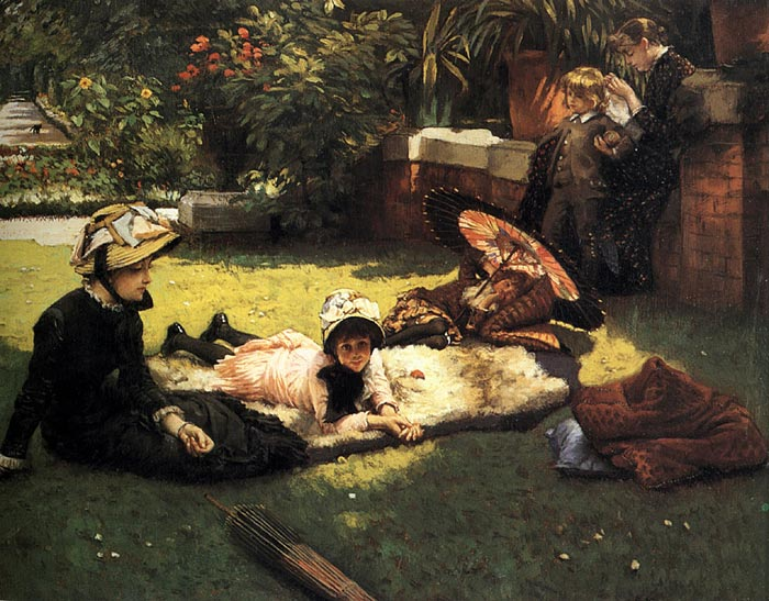 James Jacques Joseph Tissot Reproductions-In the Sunshine, c.1881