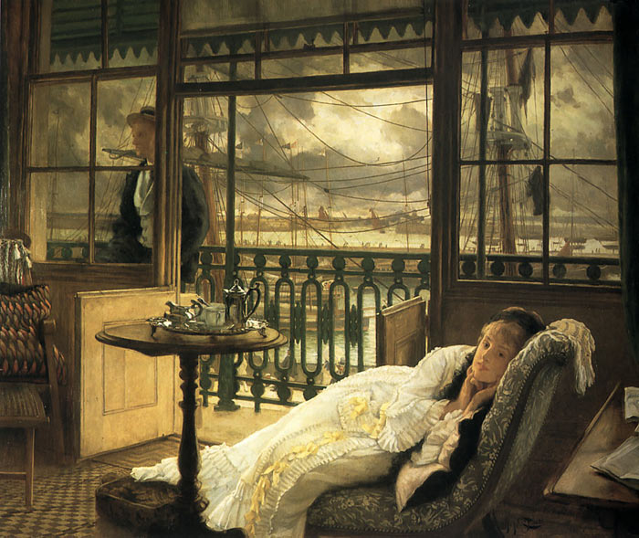 Paintings Reproductions Tissot, James Jacques Joseph A Passing Storm, c.1876