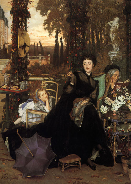 Paintings Reproductions Tissot, James Jacques Joseph A Widow, 1868
