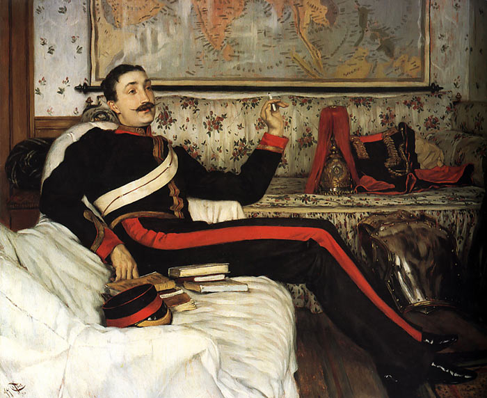 Paintings Reproductions Tissot, James Jacques Joseph Colonel Frederick Gustavus Barnaby, 1870