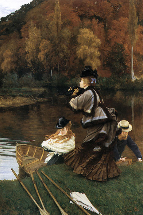 Paintings Reproductions Tissot, James Jacques Joseph Autumn on the Thames, c.1871-1872