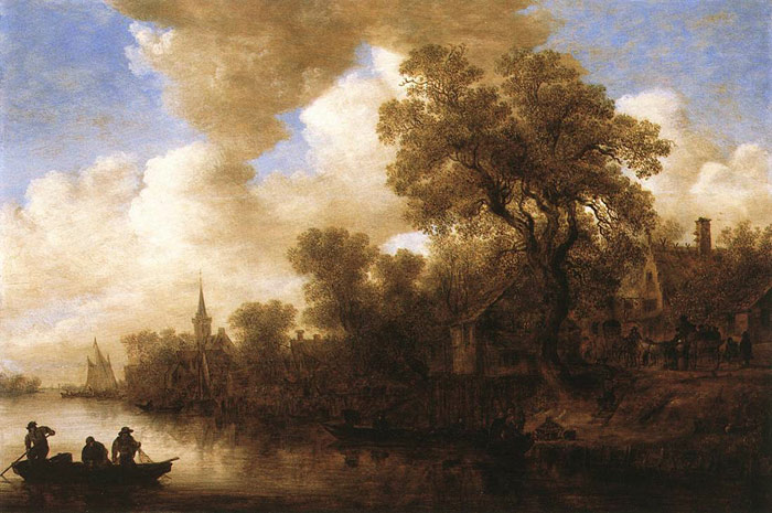 Jan van Goyen Reproductions-River Scene, 1652