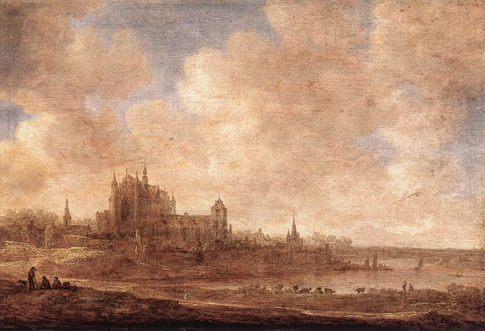 Jan van Goyen Reproductions-View of Leiden, 1643