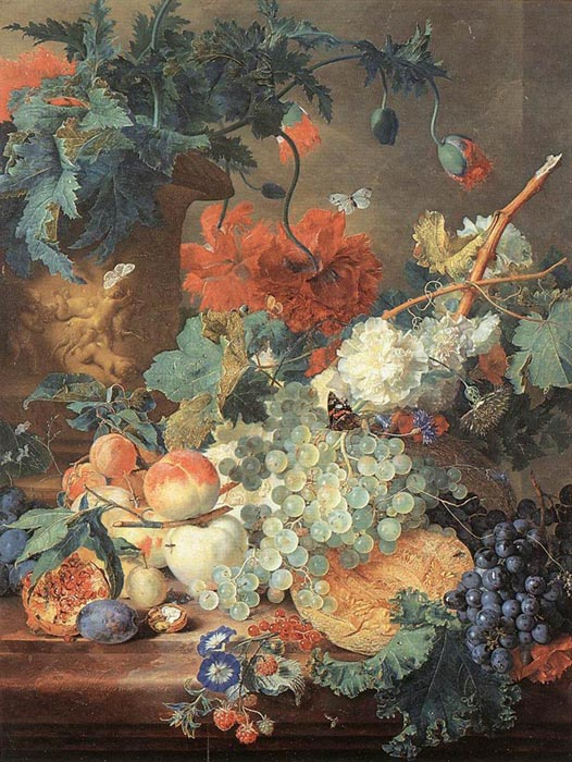 Jan van Huysum Reproductions-Fruit and Flowers, 1720