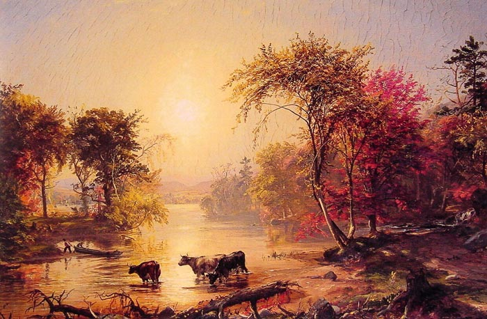Jasper Francis Cropsey Reproductions-Autumn in America, 1860