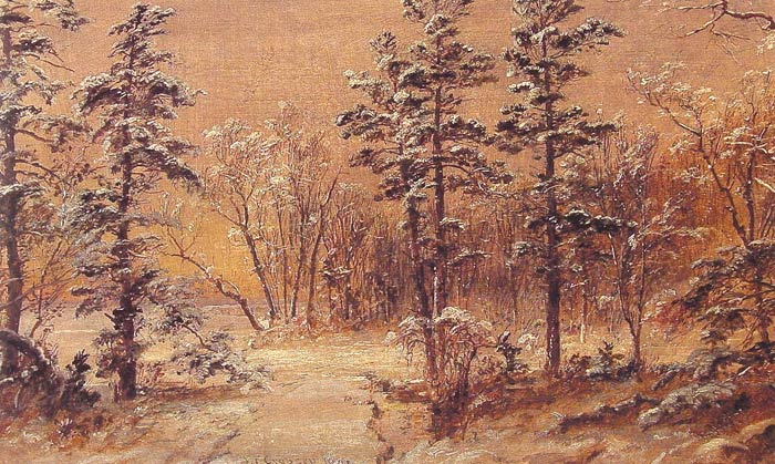 Jasper Francis Cropsey Reproductions-Winter Woodland, 1895