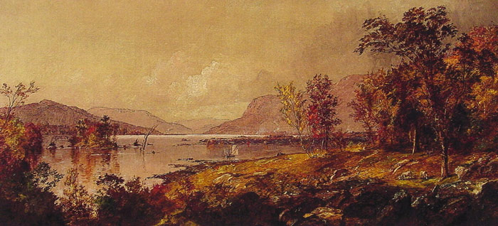 Jasper Francis Cropsey Reproductions-Greenwood Lake, New Jersey, in September , 1893
