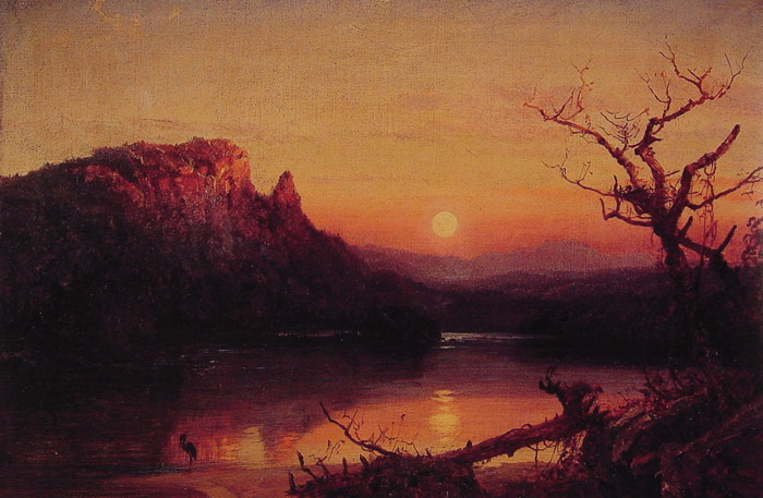 Paintings Reproductions Cropsey, Jasper Francis Sunset, Eagle Cliff, New Hampshire, 1867