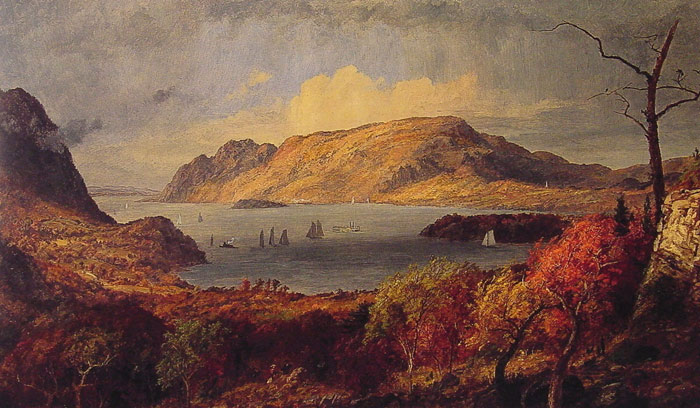 Jasper Francis Cropsey Reproductions-Gates of the Hudson