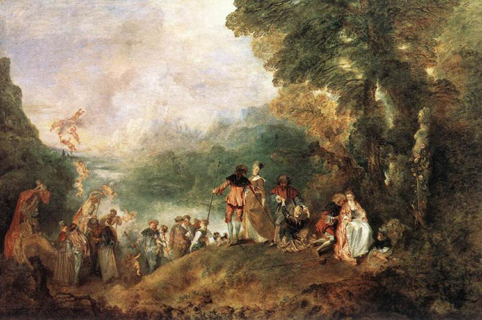 Paintings Watteau, Jean- Antone