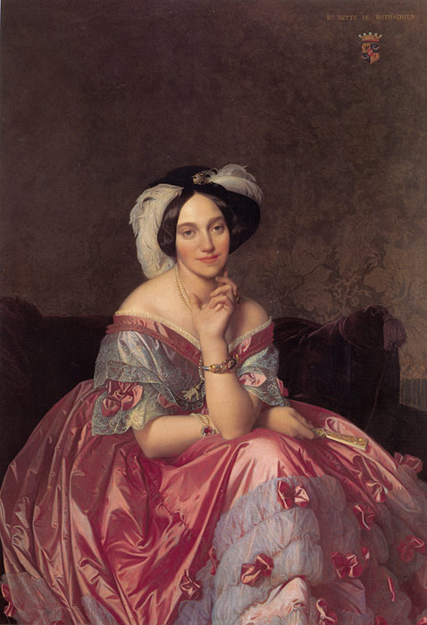 Paintings Reproductions Ingres, Jean Auguste Dominique Baronne James de Rothschild, nee Betty von Rothschild, 1848