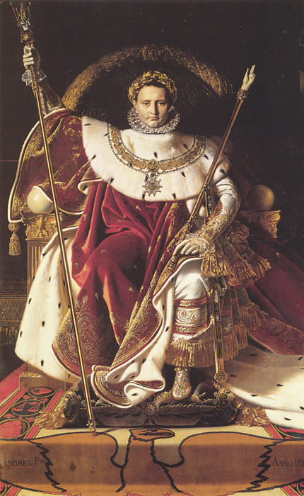 Paintings Reproductions Ingres, Jean Auguste Dominique Napoleon I on His Imperial Throne, 1806