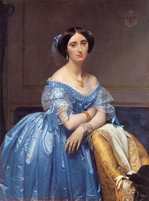 Paintings Reproductions Ingres, Jean Auguste Dominique Pauline Eleanore de Galard de Brassac de Bearn, Princesse de Broglie , 1853