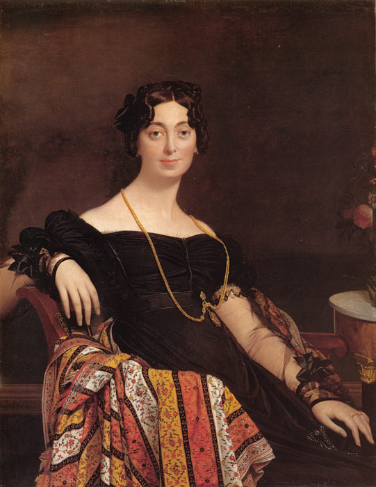 Paintings Reproductions Ingres, Jean Auguste Dominique Madame Jacques-Louis Leblanc, nee Francoise Poncelle, 1823