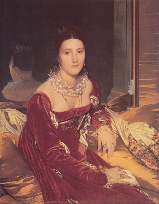 Paintings Reproductions Ingres, Jean Auguste Dominique Madame de Senonnes, nee Marie-Genevieve-Marguerite Marcoz, later Vicomtess de Senonnes, 1814