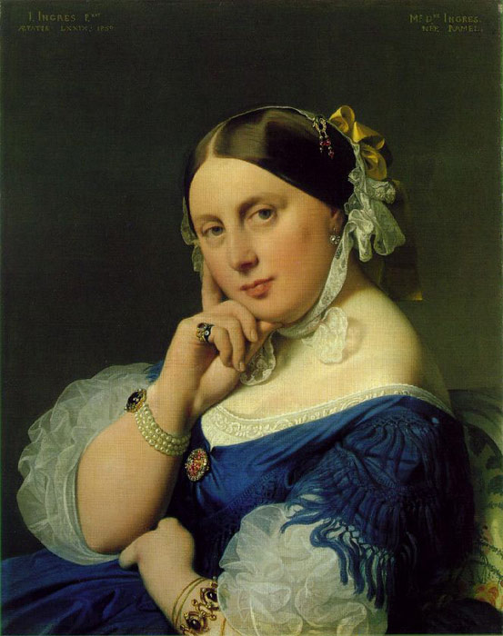 Paintings Reproductions Ingres, Jean Auguste Dominique Delphine Ramel, Madame Ingres, 1859