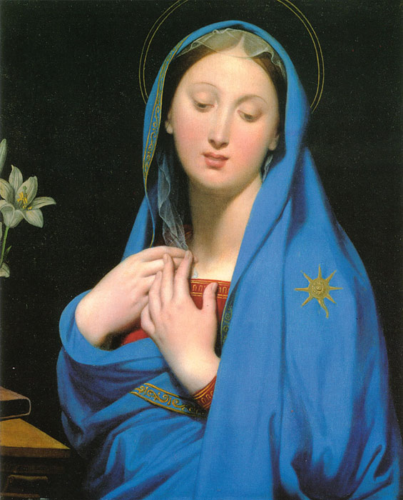 Paintings Reproductions Ingres, Jean Auguste Dominique Virgin of the Adoption, 1858