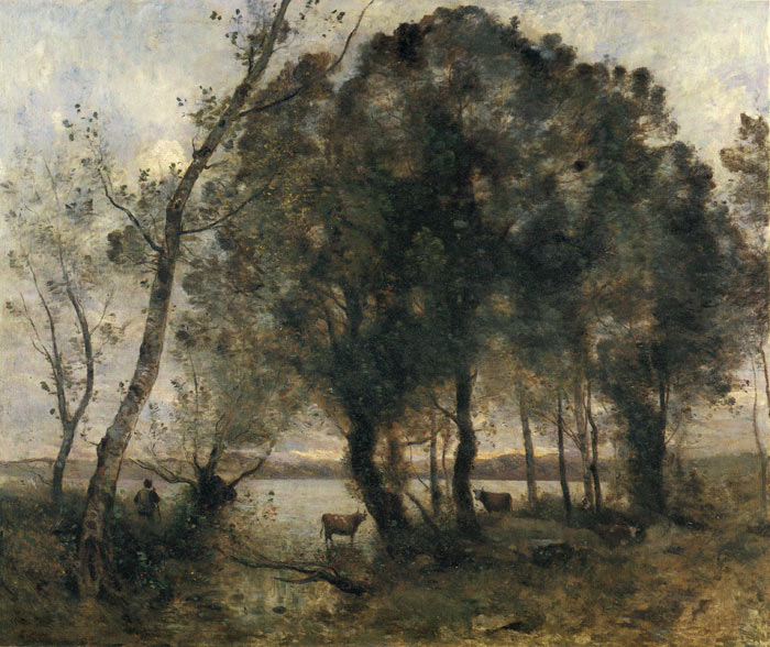 Jean-Baptiste -Camille Corot Reproductions-The Lake, 1861
